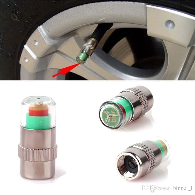 Mini 2.4Bar Autoreifen-Reifendruckkappen TPMS-Werkzeuge Warnüberwachungsventilanzeige 3 Farbalarm-Diagnosewerkzeuge Zubehör
