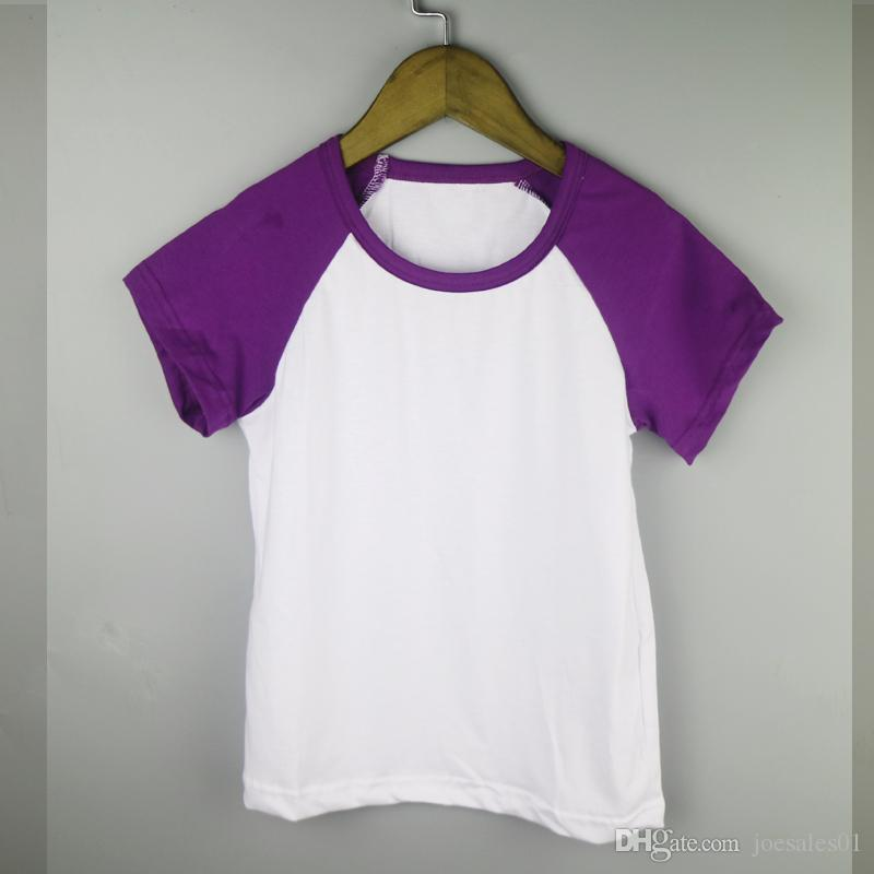 2019 purple boy raglan t shirts girls simple blank shirts