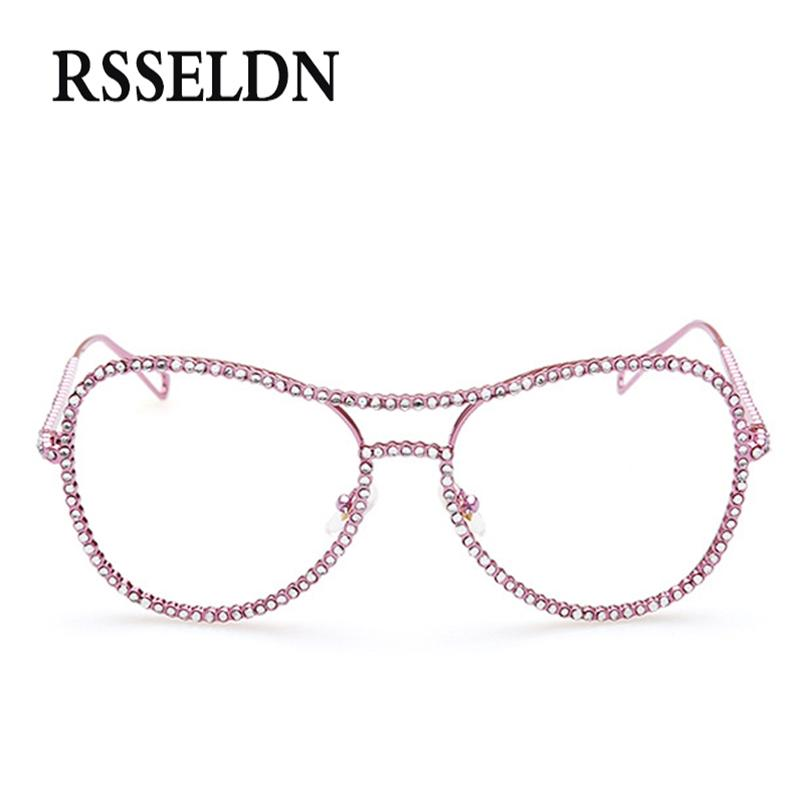 2018 Wholesale Newest Rhinestone Eyeglass Frames Female Women ...
