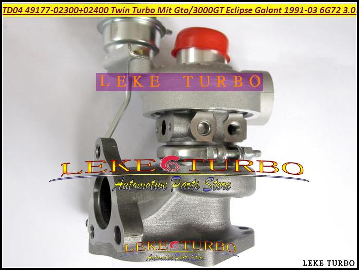 TD04 49177-02300 49177-02400 49177-02310 49177-02410 Twin Turbo Turbocharger For MITSUBISHI GTO 3000GT Eclipse Galant 1991-03 6G72 3.0L 235HP (1)