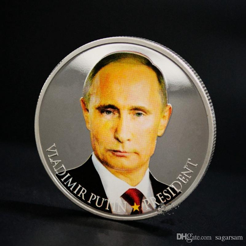 5 pcs Brand new vladimir putin the president of Russia silver Plated 40 mm x 3 mm Russian souvenir coin