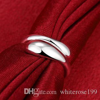 Groothandel - detailhandel laagste prijs kerstcadeau, gratis verzending, nieuwe 925 zilveren mode ring R012