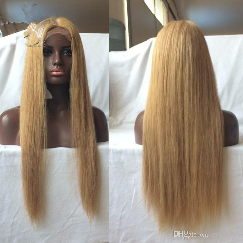 Full Lace Wig Honey Color # 613 Is Human Hair 100% Full Of My Shoes And Baby Hair In Front Brazilian Virgin Hair 100% Human Weaving KABELL