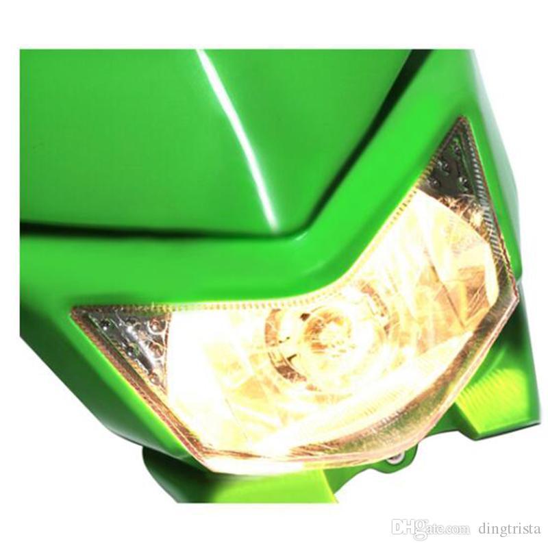 TKOSM Farol Da Motocicleta Street Fighter Balck Carenagem Baleia Nua Bicicleta De Corrida Para A Bicicleta Da Sujeira KLX CRM XR DRZ RMZ RM250 YZ WR