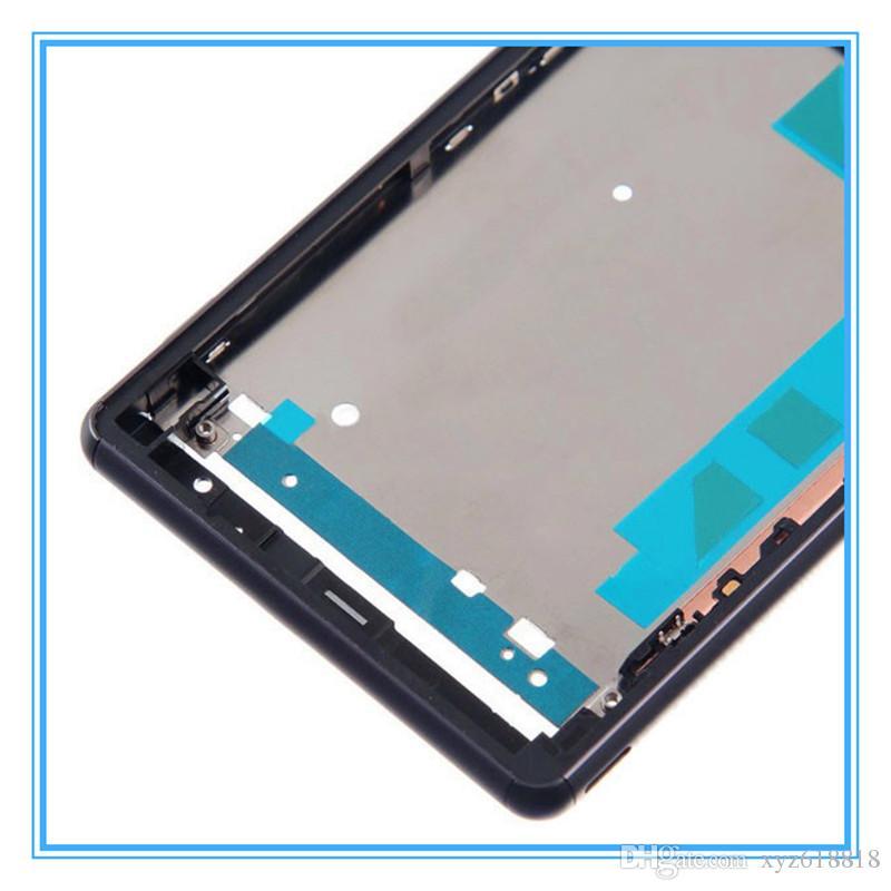 DHL Kargo Orijinal Sony Xperia Z3 için Yedek LCD Ön Konut Çerçeve Çerçeve Plaka Tek D6603 D6653 / Z3 Çift D6633 D6683 Orta Chass