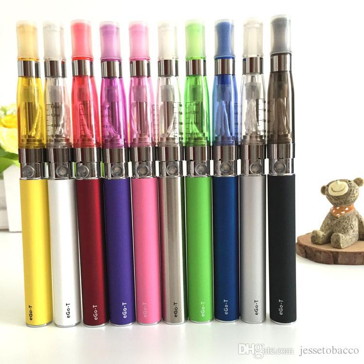 CE4 Ego Blister Kit Elektronische Zigarette E CIG-Kit 650mAh 900mAh 1100mAh CE4-Tank Ego-T Battery Black ClearoMizer Vape E-Zigaretten-Kit