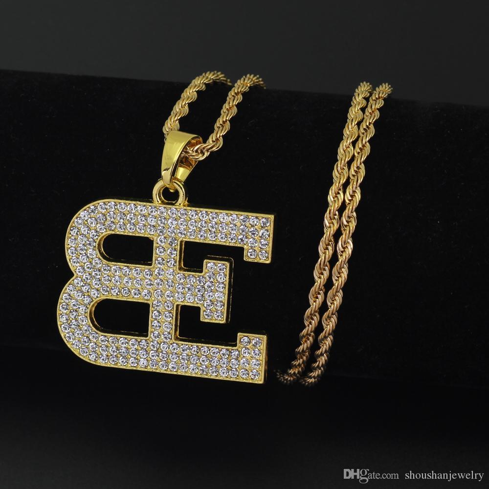Wholesale New Hip Hop Men Women Letter Pendant Necklace Jewelry ...
