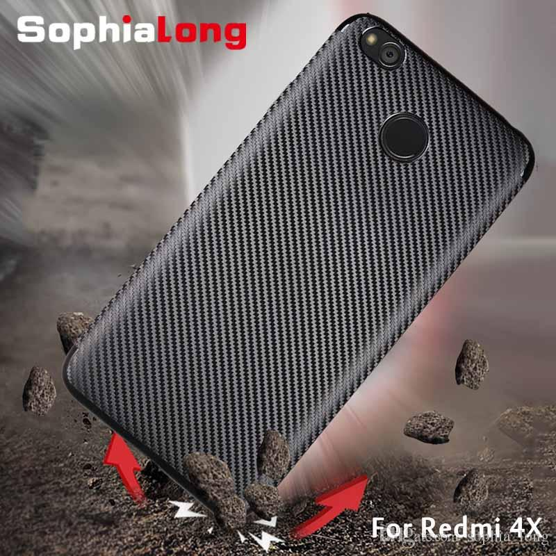 los angeles c75a0 e058f Redmi 4X Cover for Xiaomi Redmi 4X Case Soft TPU & Carbon Mobile Phone Back  Cases for Xiaomi Red mi 4X case