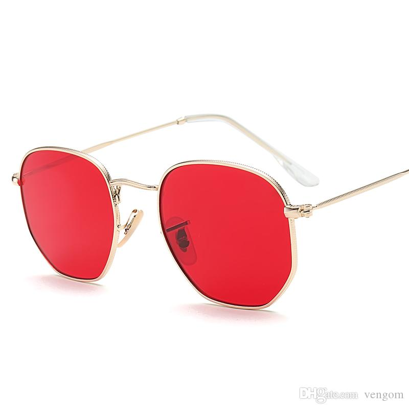 New Vintage Small Round Sunglasses Women Men Classic Brand Designer Metal  Pink Retro Mirror Sun Glasses Fashion SunglaFemale Lady UV400 VE04 Mens  Sunglasses ... 8c30cbff27