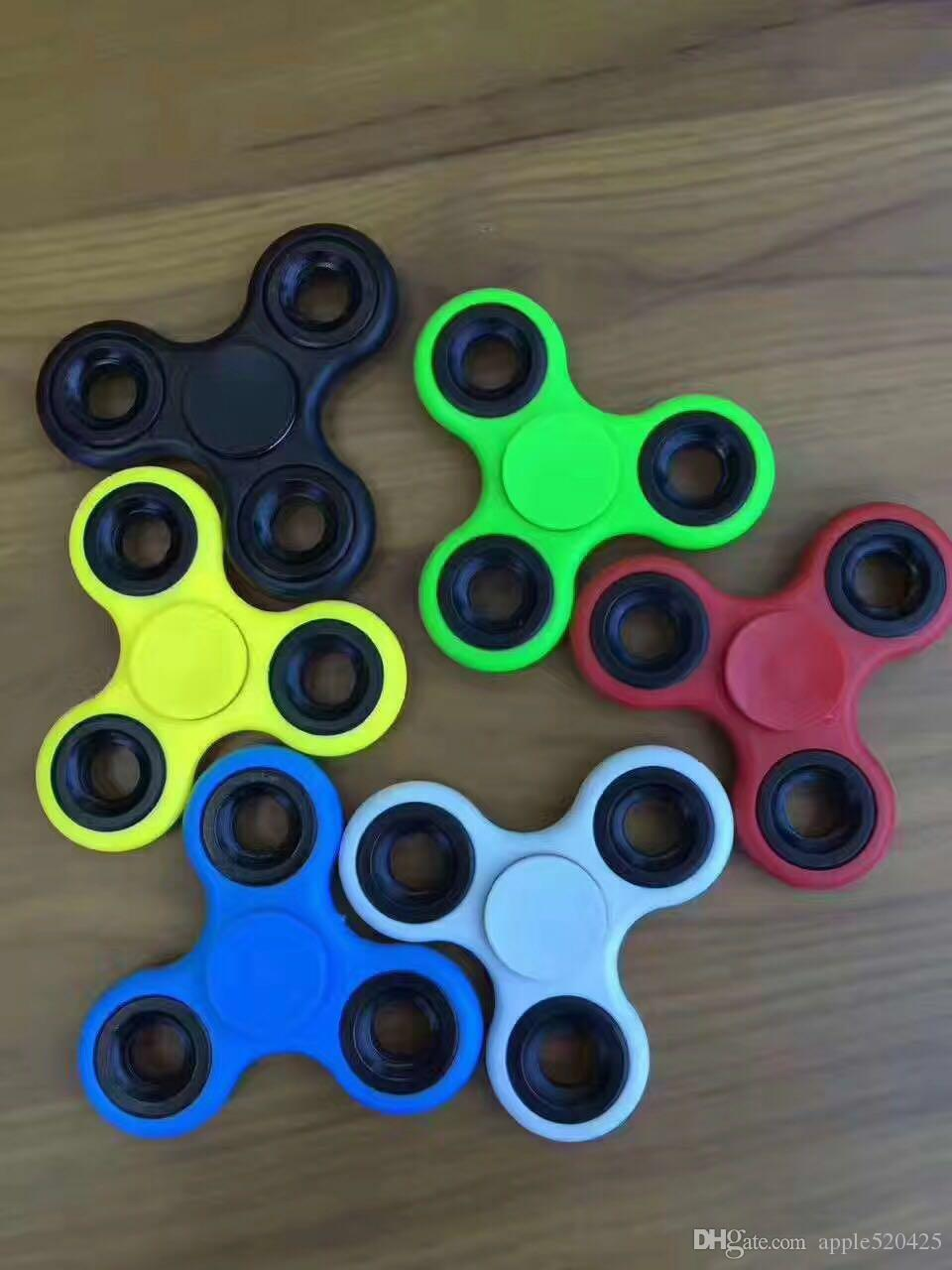 A Variety Of Color Hand Spinner Tri Fidget Desk Toy Edc For Decompression Anxiety Finger Toys Killing Time All In Retail Box Best Spinning Top