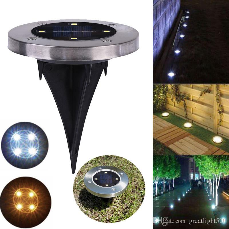 2019 Solar 4 LED Outdoor Path Light Spot Lamp Yard Garden