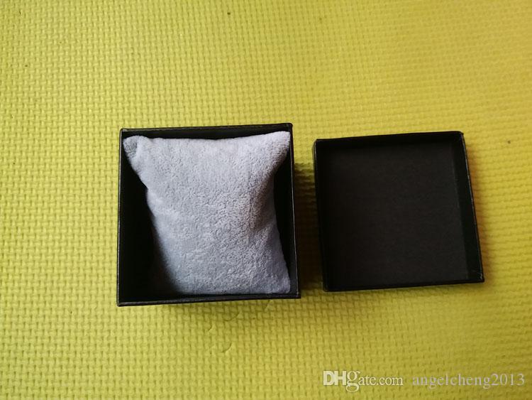 8x8x6cm place papier dur unique Bracelet montre bijoux cadeau montres boîte d'emballage d'affichage noir
