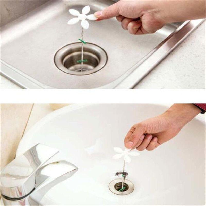 Bathroom Shower Drain Wig Chain Cleaner Hair Clog Remover Blockage Wig Preventer Strumenti di pulizia antiblocco