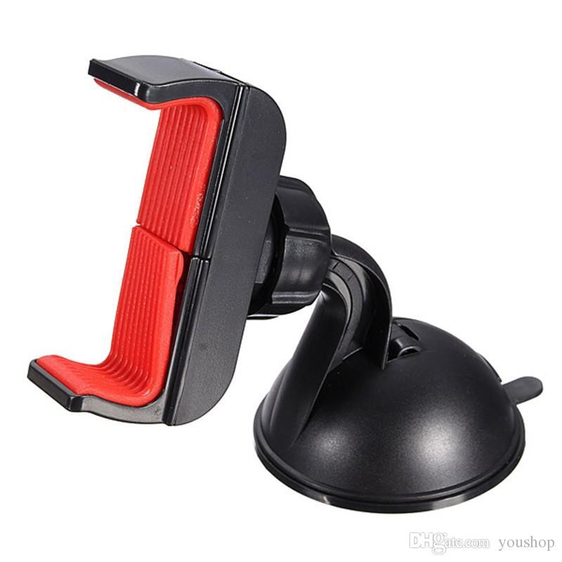 Универсальный ветровое стекло на присоске смартфон автомобильный держатель регулируемая подставка для лобового стекла для iphone 7 6 6s 5s