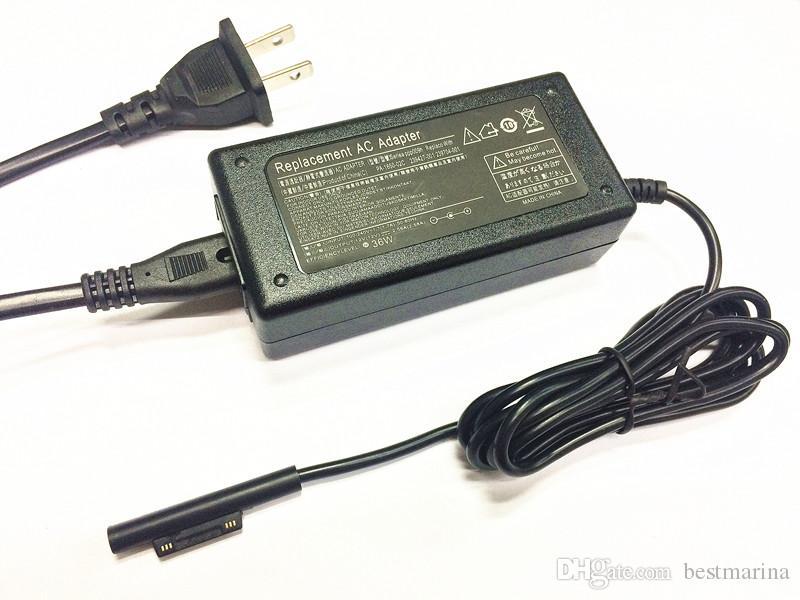 36W 12V 2.58A AC / DC Power Adapter Caricabatteria da viaggio da parete Microsoft Surface Pro 3 Pro 4 Tablet Pc Cavo di alimentazione caricabatterie portatile