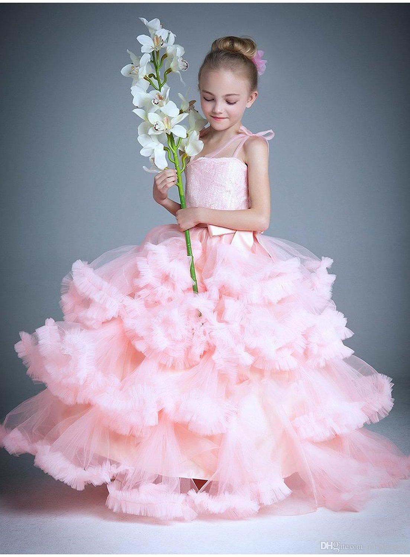 Großhandel Cloud Kleine Blumenmädchen Kleider Für Hochzeiten Baby ...