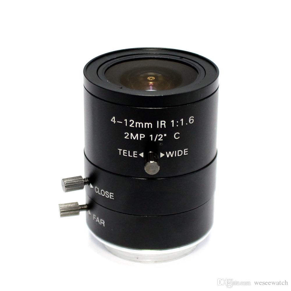 2MP 4-12mm IR LENS C Mount 2.0 Mega Pixel HD Industrial lens Vari-Focal Manual Iris CCTV Lens For CCTV Camera