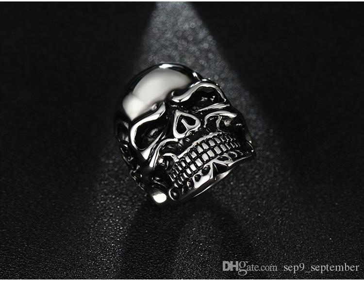 Skull Rings for Men Stainless Steel Rings Brand Jewelry New Arrival Punk Vintage Jewelry Mens Rings