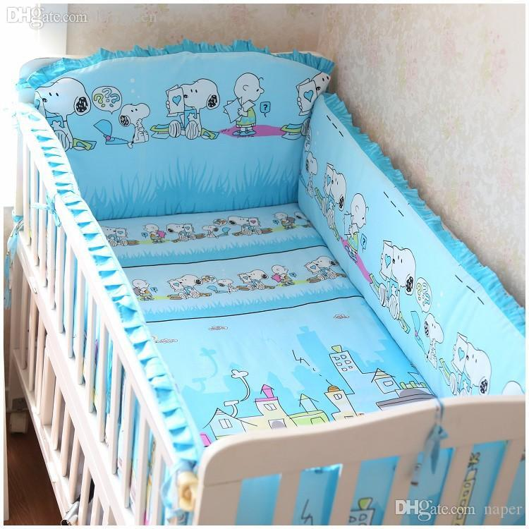 Wholesale Newest Style China Baby Bed Set Cotton Baby Bedding Setbaby Crib Bedding Set Include Bumpers Sheet Pillow Case Pink Duvet Comforters And Bedding