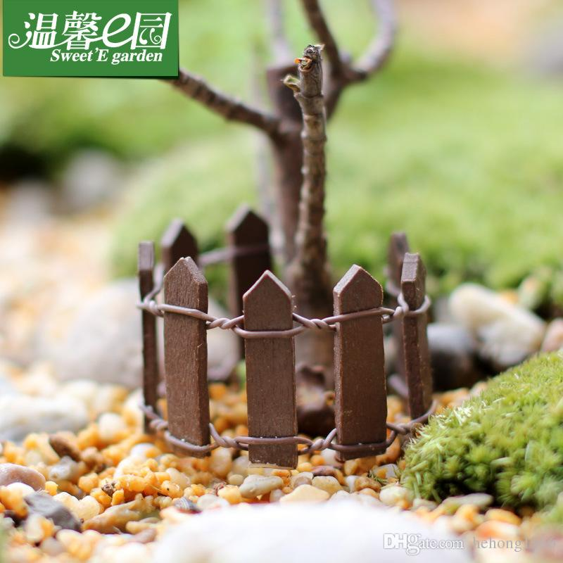 Barandillas hechas en casa Mini Barrera de madera pequeña Barrera multicolor Palings para plantas suculentas Bonsai Cercas dedicadas Nueva llegada 0 55xl B