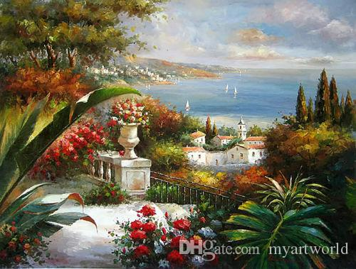2019 Framed Beautiful Mediterranean Sea Landscape With