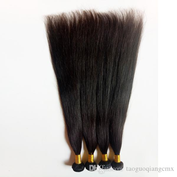 Malaysian Brazilian virgin Human staright Hair extensions Unprocessed European Indian remy hair weaves 8-30inch Wholesale in stock DHgate