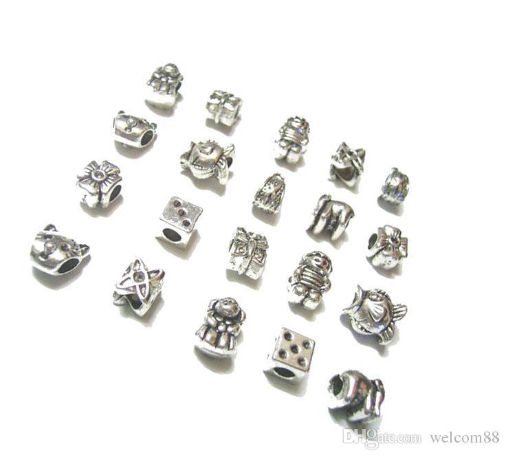 / Mélanger Style Tibet Argent Charmes Perles Pour DIY Artisanat Européen Bracelet De Mode Bijoux Gfit Livraison gratuite C18
