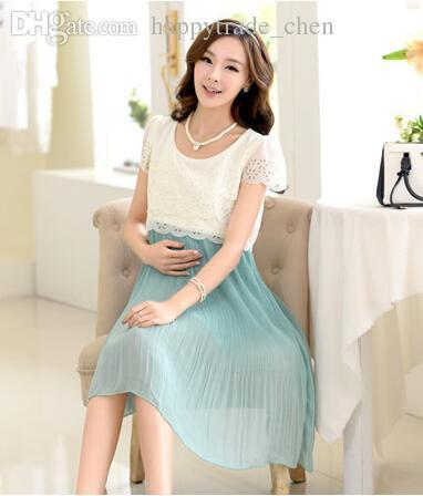 0b9ee38a5ae3 2019 Hot Sale Maternity Nursing Dress For Pregnant Women Clothing 2017  Summer Fashion Chiffon Breastfeeding Skirt Pregnancy Clothes Lactation From  Lin 02