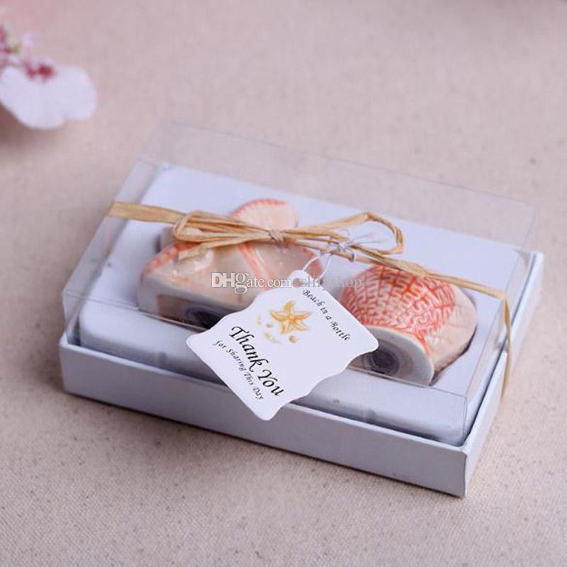 Keramik Salz Flasche Werkzeuge Pfefferstreuer Hochzeit Bevorzugungen und Geschenke für die Gäste Souvenirs Dekoration Veranstaltung Partyangebot