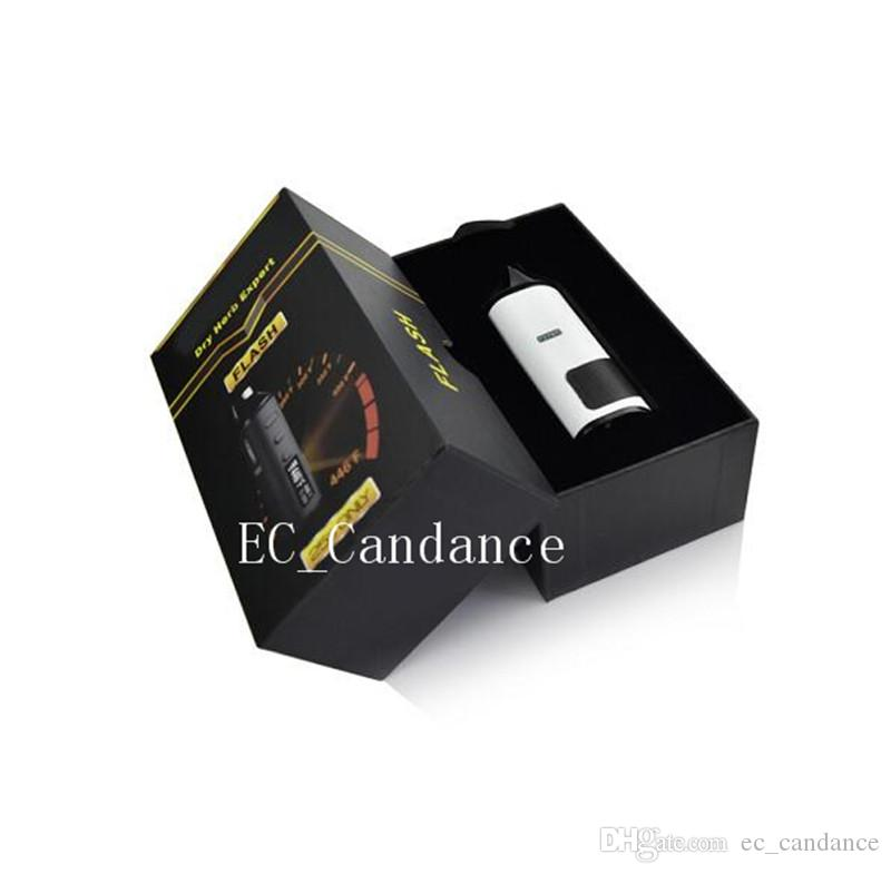 LVsmoke flash cuisson numérique mini sec Vaporisateur d'herbes 0-446F contrôle de la température 1600 mah Cigarette Vape Pen Kit