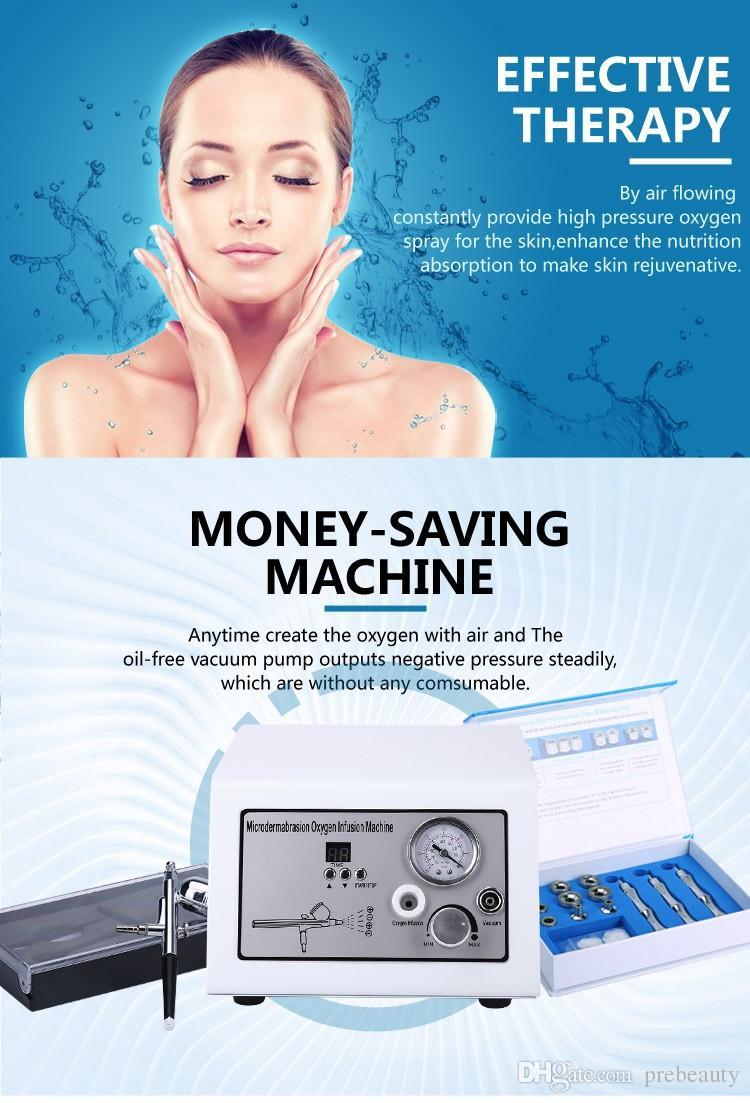 Portable 2 in 1 di ossigeno acqua macchina di bellezza di ringiovanimento della pelle dermoabrasione della pelle di sollevamento