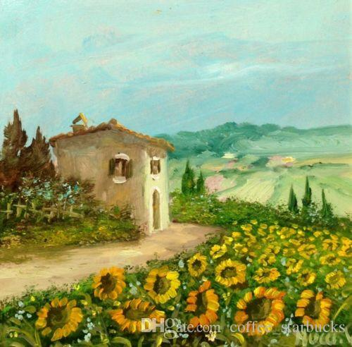 2018 Framed Italian Painting Tuscany Landscape,Pure Hand Painted ...
