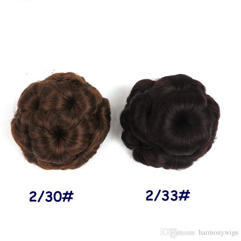 مخلب العقدة كعكة 9 الزهور الشعر تسريحة اكسسوارات الشعر الاصطناعية كليب كعكة ذيل الحصان حامل 5 ألوان اختياري