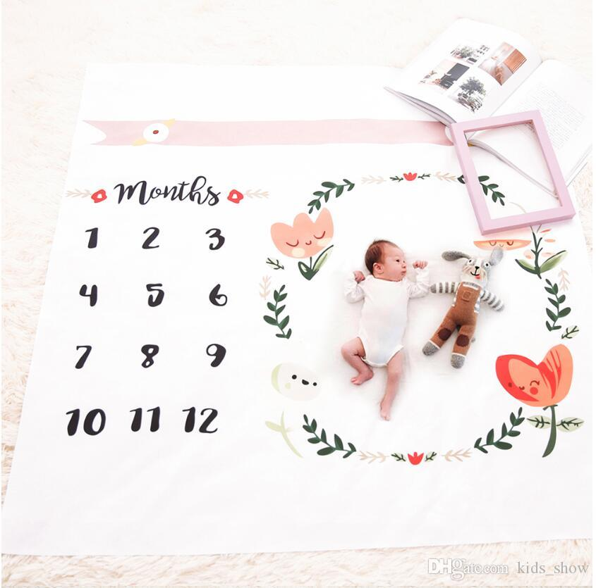 Baby Blankets Swaddle Wrap Newborn Flower Printed Cute Soft Blanket DIY Infant Kids Photography Props Fashion Bathing Towels