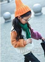 Filles avec un pull en cachemire big boy et un manteau épais pour enfants coréens en 2017