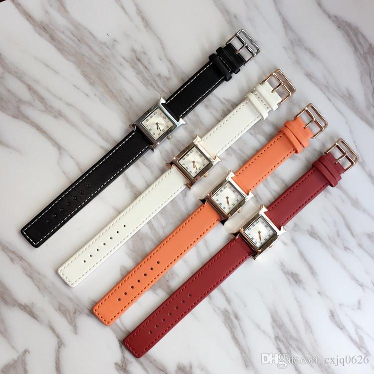 Luxury Brand Women Watches Red Leather Rose Gold Ladies Fashion Quartz Watch Dress Watch Clock Women Montre Femme Reloj mujer
