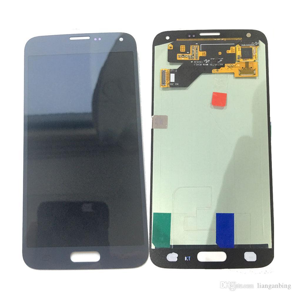 Super AMOLED Display LCD Touch Screen Digitizer Samsung Galaxy S5 Neo G903 G903F Nero Bianco con vetro temperato DHL logistica