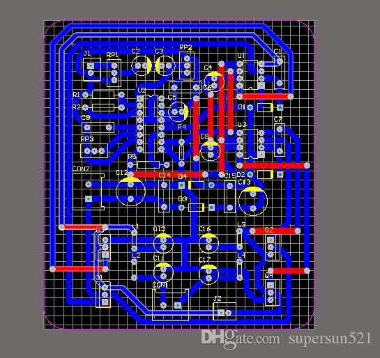 TL494 D Amplifier PCB tl494 amplifier IR2011 MOSFET Double-sided pcb  electronic diy kit amplifier Schematic/PCB