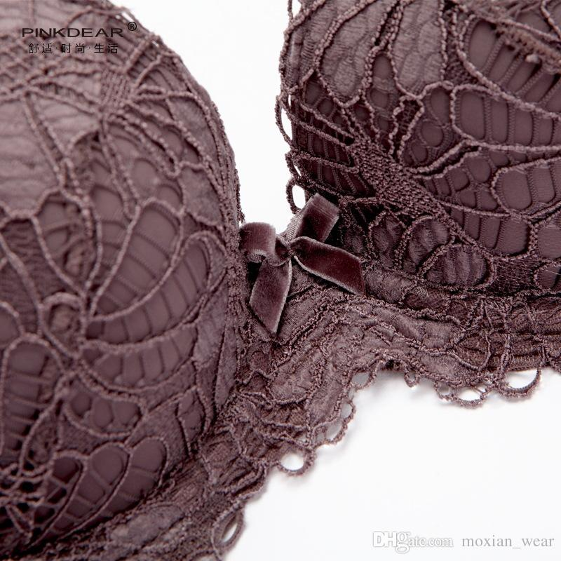 MOXIAN/Stereo underwear effective storage of fat elegant body young lady velvet 3D Lace relief on the care single bra sexy WX33A73150L
