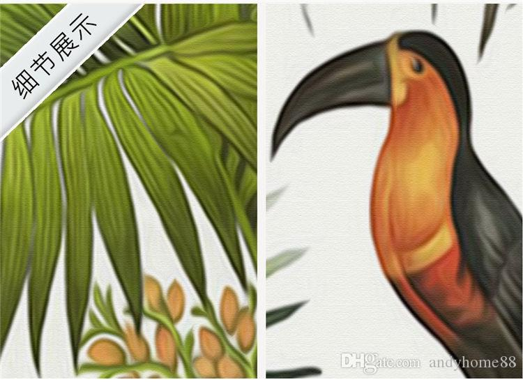 Retro tropischen Regenwald Tapete Südostasien Pflanze toten Baum benutzerdefinierte Wandmalereien Wohnzimmer Sofa Hintergrund Wand Tapeten Wandmalereien