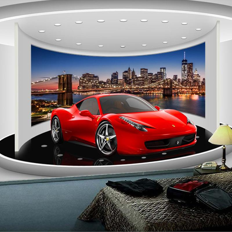 Wholesale Custom Any Size 3d Sports Car Poster Photo Wallpaper Living Room  Study Bedroom Tv Background Wall Mural Wallpaper De Parede 3d Wallpapers  For ...