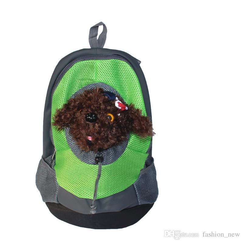 37 * 33 * 18 CM Pet Carrier Dog Carrier Pet Borsa da viaggio Borsa da viaggio portatile Dog Front Bag Zaino in rete Head Out Double Shoulder Puppy Dog