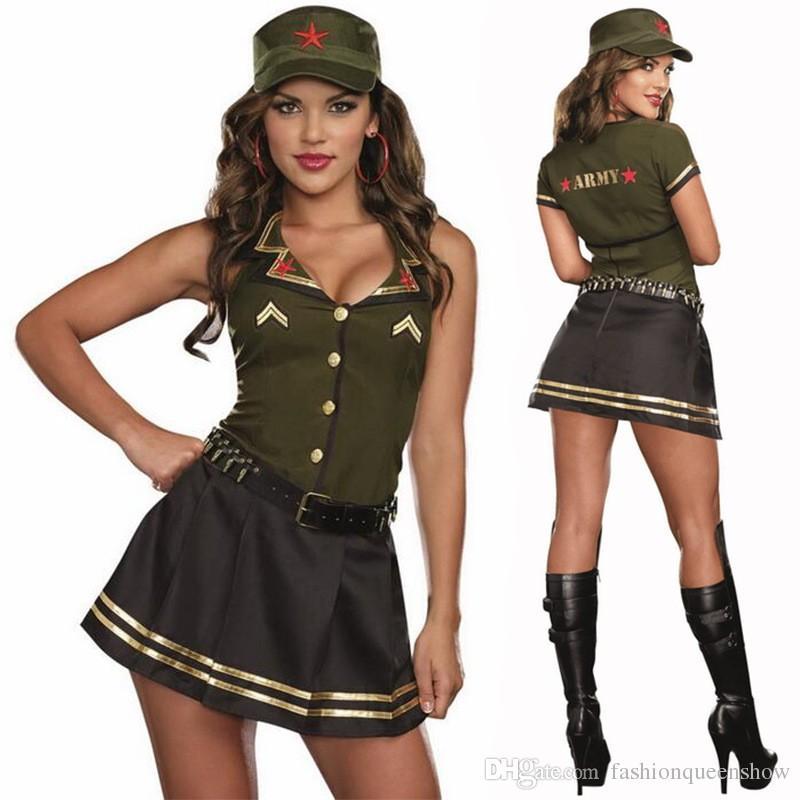 Theme interesting, sexy military halloween costume