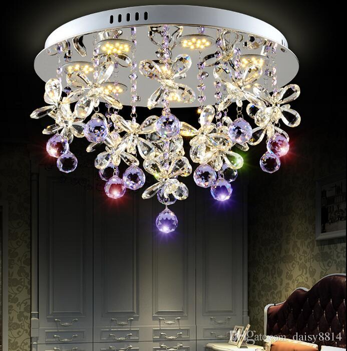 Beautiful Design Purple Crystal Chandelier Ceiling Led Light ...