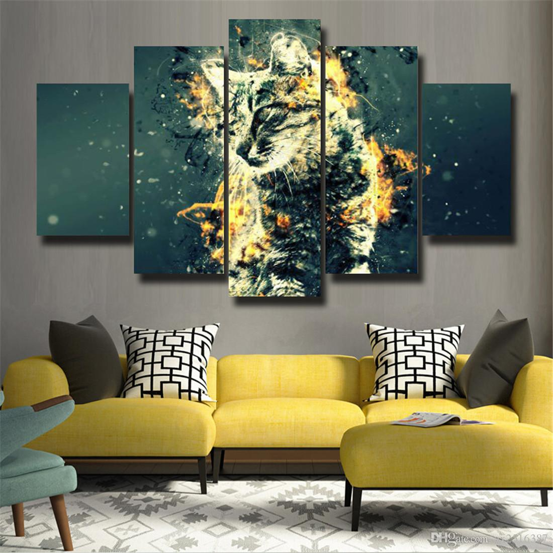 2018 5p Modern Home Furnishing Hd Picture Canvas Print Art Wall Of ...