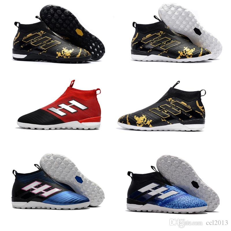 a288dc98b Laceless ACE 17+ PureControl FG Dragon Soccer Shoes 17.1 Indoor Football boots  ACE Tango 17+ Purecontrol TF IN Soccer Cleats Free shipping