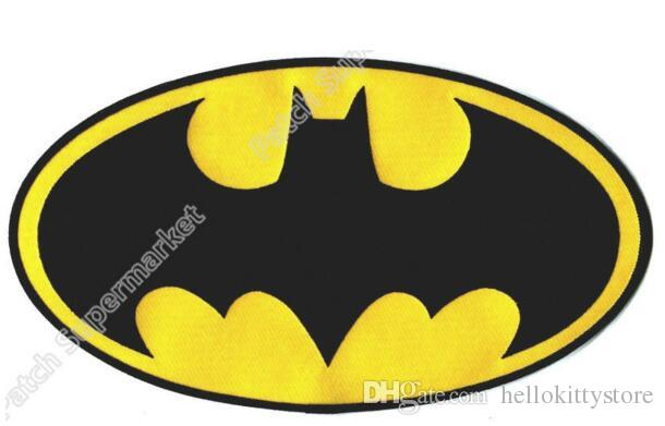 "10.5"" XL LARGE BATMAN classic logo IRON ON BACK PATCHES dc comics TV Movie Series Embroidered Badge Biker Vest Leather Jacket"