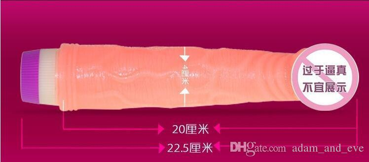 Hot Sale Vibrating Dildo Soft Realistic Penis Bendable Fake Dildo Female Masturbation Sex Toys for Women