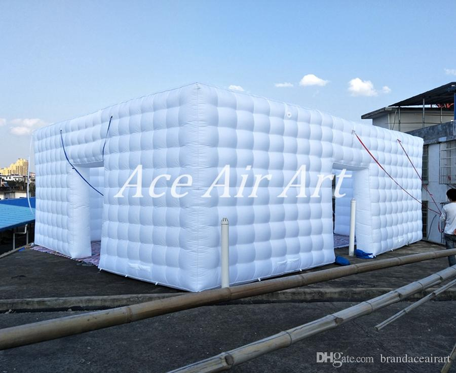 Custom-made High End Used wedding event party inflatable tent, inflatable Party Tent giant cubic marquee canopy with blower for sale