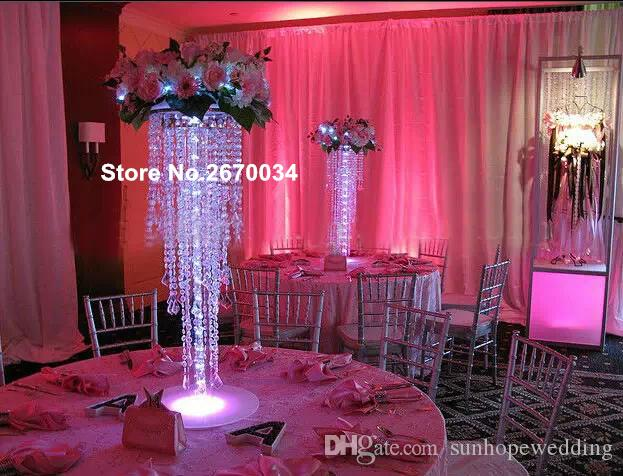 crystal bead Artificial flower arrangement stand wedding table centerpieces,event decor for flower arrangement